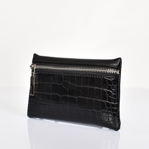 Croc Zip Front Rectangle Purse