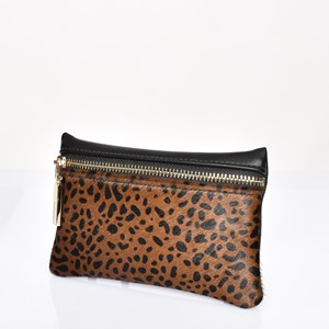 Hide Zip Front Rectangle Purse
