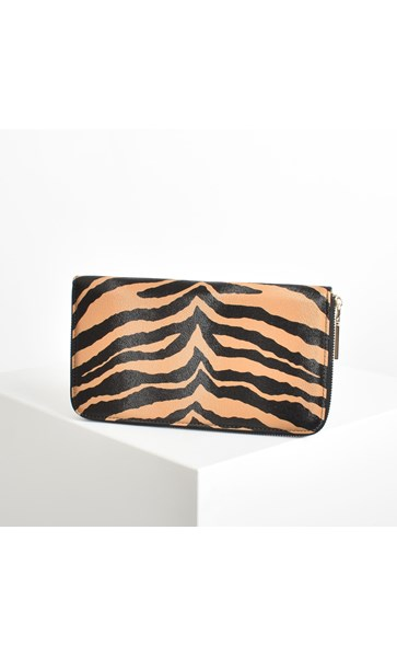 Animal Print Zip around Travel Wallet
