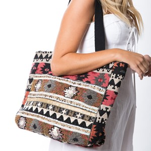 Marrakech Beaded Fabric Tote Bag