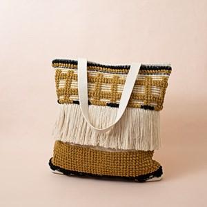 Cotton Crosses & Fringe Tote Bag