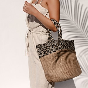 Fabric Weave Natural Tote