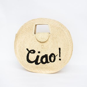 Ciao Round Woven Basket Bag