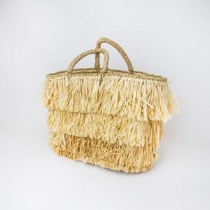 Layered Fringe Basket Bag