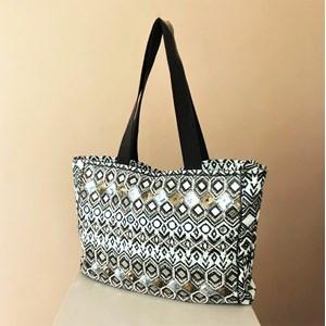 ec631cd438 Earthy Mirrors   Beads Tote Bag