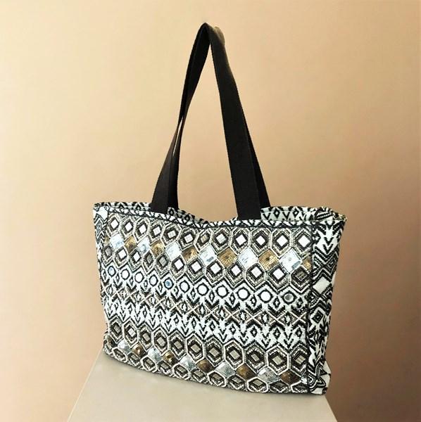 Earthy Mirrors & Beads Tote Bag