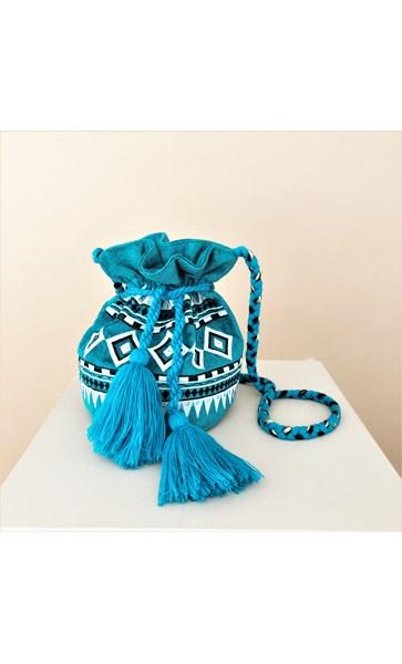 Marrakech Tassel Drawstring Bucket Bag