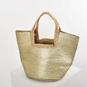 Tulum Metallic Weave Basket