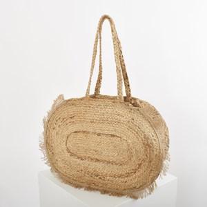 Grecian Oval Fringe Edge Basket