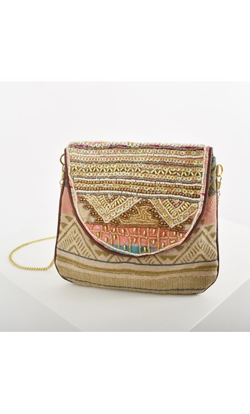 Beaded Fold Over Pouch