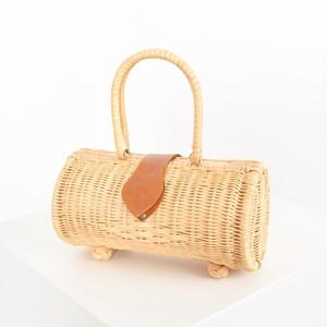 Cylinder Wicker Basket
