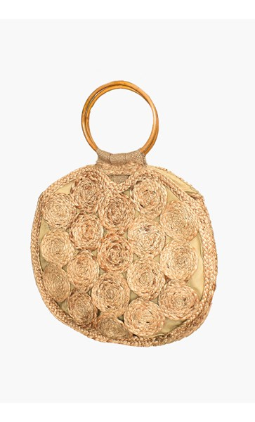 Natural Woven Circle Ring Basket