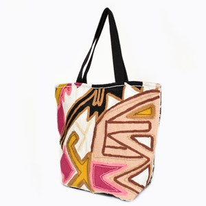 Beaded Pattern Tote Bag