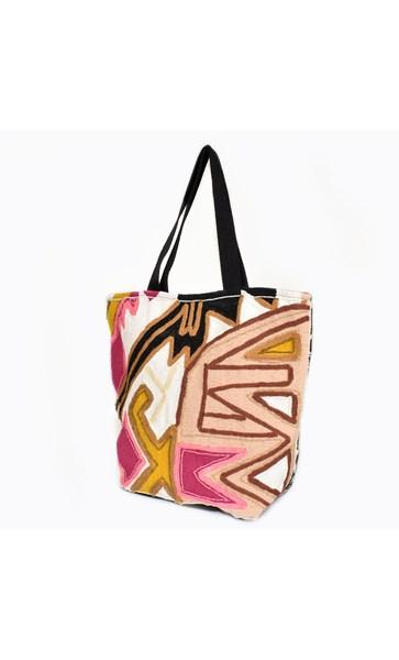 Beaded Pattern Tote Bag