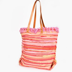 Hand Woven Fabric Tote Bag