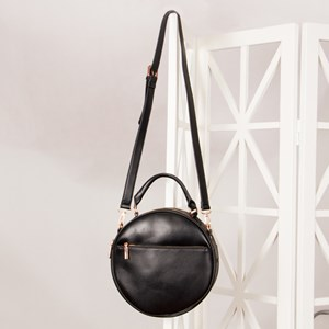 Large Front Zip Pocket Round Handbag