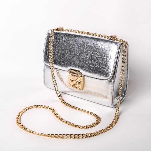 Metallic Flap Over Lady Lunch Bag