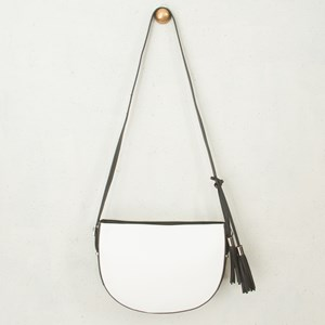 Half Circle Double Tassel Handbag