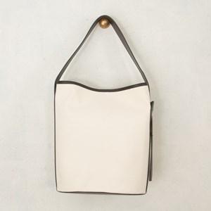 Canvas Round Base Bucket Bag