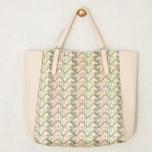 Triangle Weave Winged Tote Bag