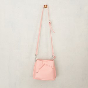 Double Compartment Tie Front Mini Handbag