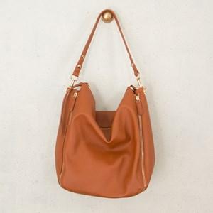 Four Zip Shoulder Bag
