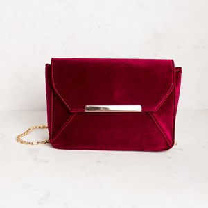 Velvet Panelled Shoulder Bag