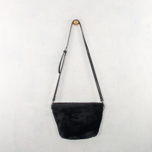 Small Angled Fur Shoulder Bag
