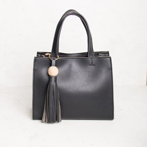 Mini Double Compartment Ball & Tassel Charm Handbag
