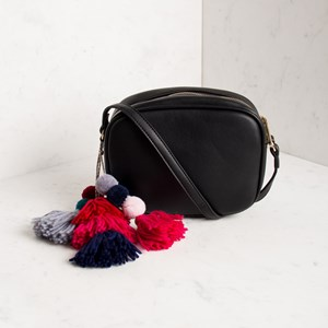 XL Pom Pom & Tassel Camera Bag