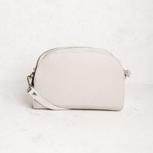 Curved Zip Edge Shoulder Bag