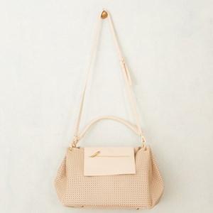Dot Cutout Flapover Detail Bag
