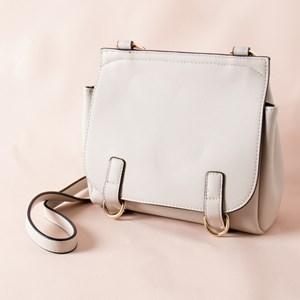 Slim Top Crossbody Double Rings Handbag