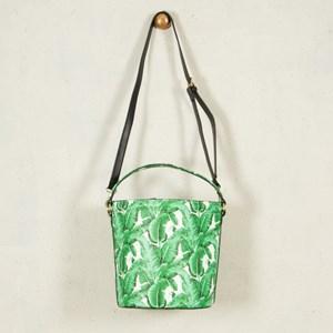 Banana Leaf Medium Structured Bucket Bag