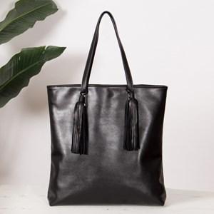 Double Tassel Sleek Tote Bag