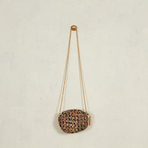 Manhattan Boucle Mini Oval Bag