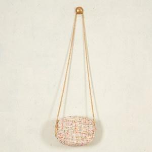 Manhattan Boucle Mini Oval Bag