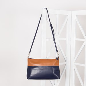 Two Tone Panelled Cross Body Bag