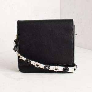 3D Flowers Strap Flap Over Small Bag