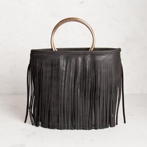 Fringed Metal Ring Mini Bag