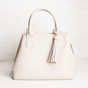 Structured Lunch Timber Ball & Tassel Bag