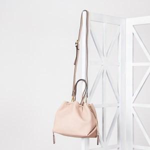 Lychee Cord Drawstring Bucket Bag