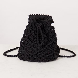 Macrame Mini Convertible Backpack