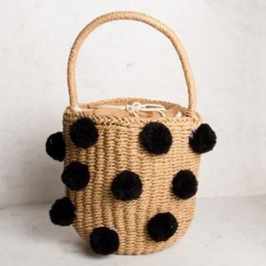 Paper Weave Pom Pom Mini Bucket