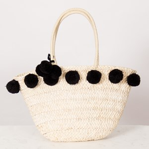 Simple Plait Weave Pom Pom Basket