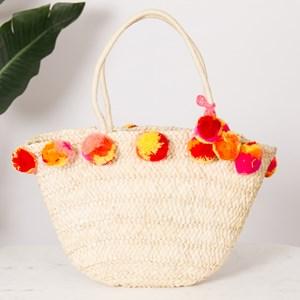 Simple Plait Weave Pom Pom Basket