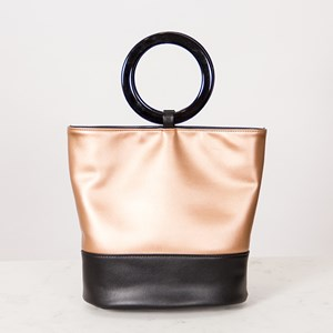 Two Tone Ring Handle Small Tote