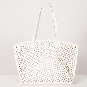 Square Cut Out Pattern Tote