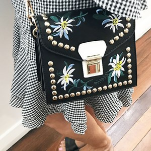 Accordion Statement Mini Shoulder Bag