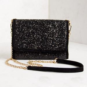 Glitter Fold Over Mini Shoulder Bag